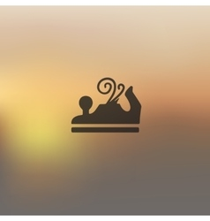 jointer icon on blurred background vector image