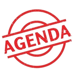 Agenda rubber stamp vector