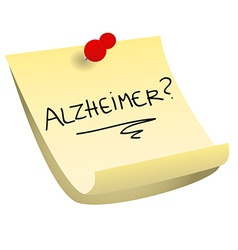 Alzheimer sticky note vector