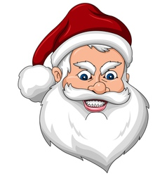 Angry santa claus face side view vector