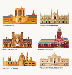 Best national universities flat buildings of yale vector