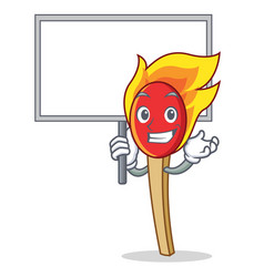 Bring board match stick character cartoon vector
