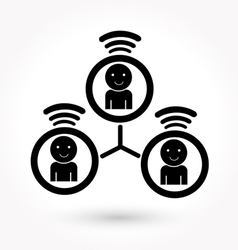 businessmen connection icon vector image