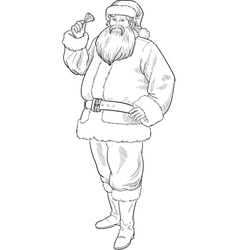Christmas Character Santa Claus lineart vector image vector image