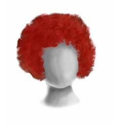 Circus red hair vector image