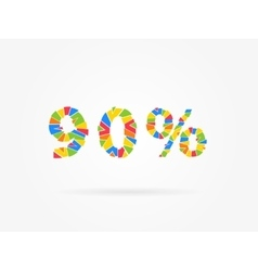 Discount 90 percent vector image