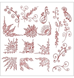 Doodle design elements set vector image