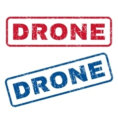 Drone Rubber Stamps vector image vector image