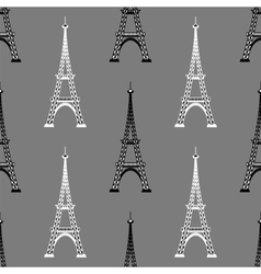 Eiffel Tower Seamless Background French Pattern vector image