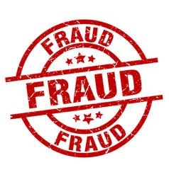 Fraud round red grunge stamp vector