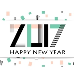 Geometric 2017 Happy New Year greeting card vector image vector image