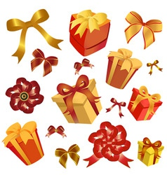 gift box and ribbon vector image