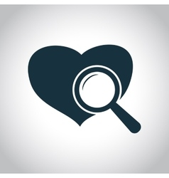 Heart checkup icon vector