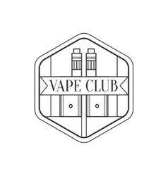 Hexagon Frame Premium Quality Vapers Club vector image vector image