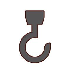 Hook crane isolated icon vector