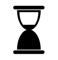 hourglass the black color icon vector image