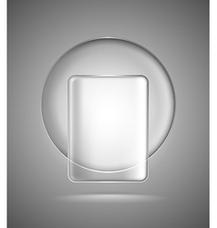 Lightened glass geometric shapes vector