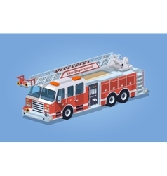 Low poly fire truck vector image