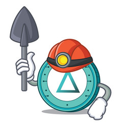 Miner salt coin mascot cartoon vector