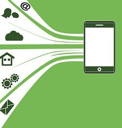 Tablet mobile background vector