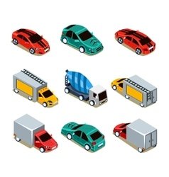 Transport Icon Set Flat 3d Isometric vector image vector image