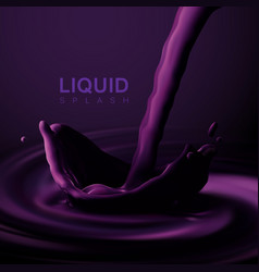 Violet liquid crown splash vector