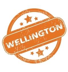 Wellington rubber stamp vector