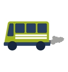 Bus vehicle transport isolated icon vector