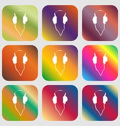 Headphones sign icon vector