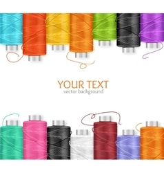 Thread spool banner vector