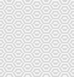 Geometric gray hexagon vector