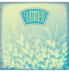 Seasonal summer airy background vector