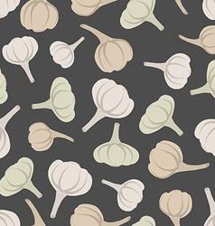 Garlic seamless pattern background garlic vector