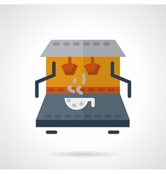 Coffee making machine flat color icon vector