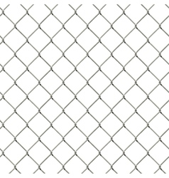 Seamless wire mesh fence vector