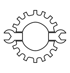 Wrench icon tool design graphic vector