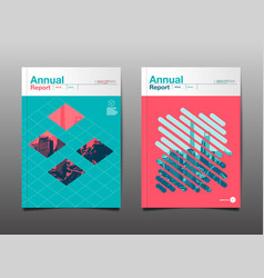 Annual report 201720182019 template layout vector