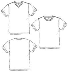 Basic tshirt vector