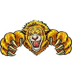 Cartoon of angry lion mascot vector image
