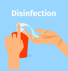 disinfection concept woman washing hands vector image