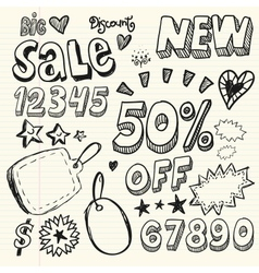Doodle Percent Discount vector image vector image
