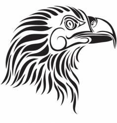 eagle profile vector image vector image