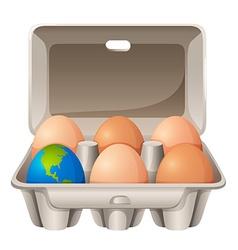Earth in egg shape vector