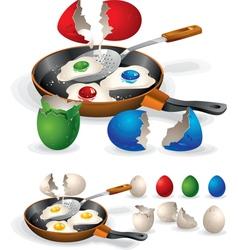 Easter fried eggs vector