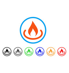 Fire place rounded icon vector