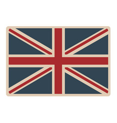 Flag united kingdom classic british opaque icon vector