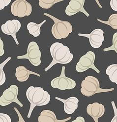 Garlic seamless pattern background garlic vector image