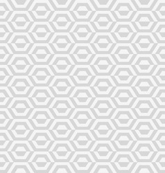 Geometric gray hexagon vector
