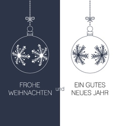 german christmas and new year greeting card vector image vector image
