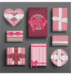 Girly boxes and bows vector